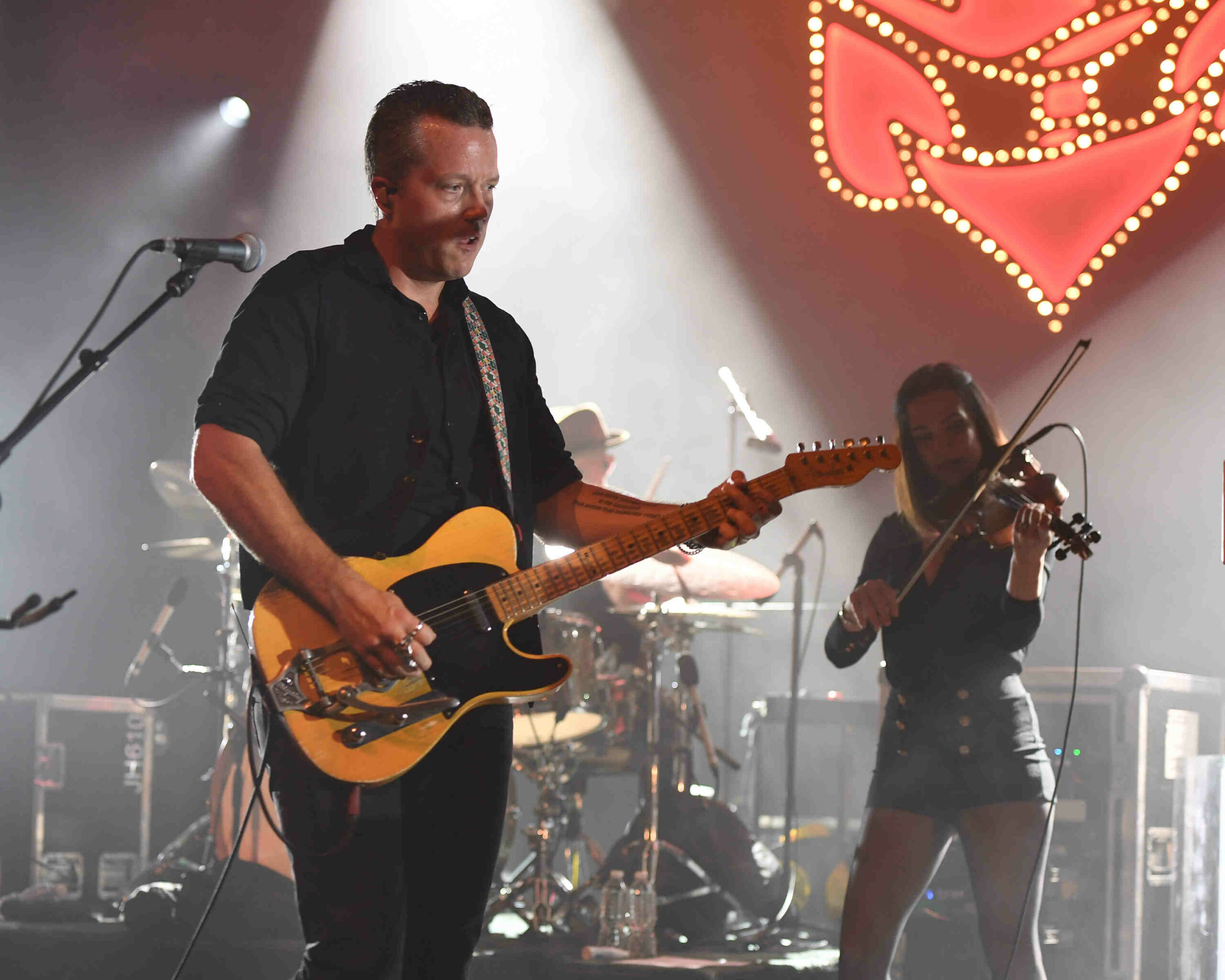 MIAMI BEACH, FL - JULY 21: Jason Isbell and Amanda Shires of The 400 Unit perform at the Fillmore on July 21, 2017 in Miami Beach, Florida. Credit Larry Marano © 2017