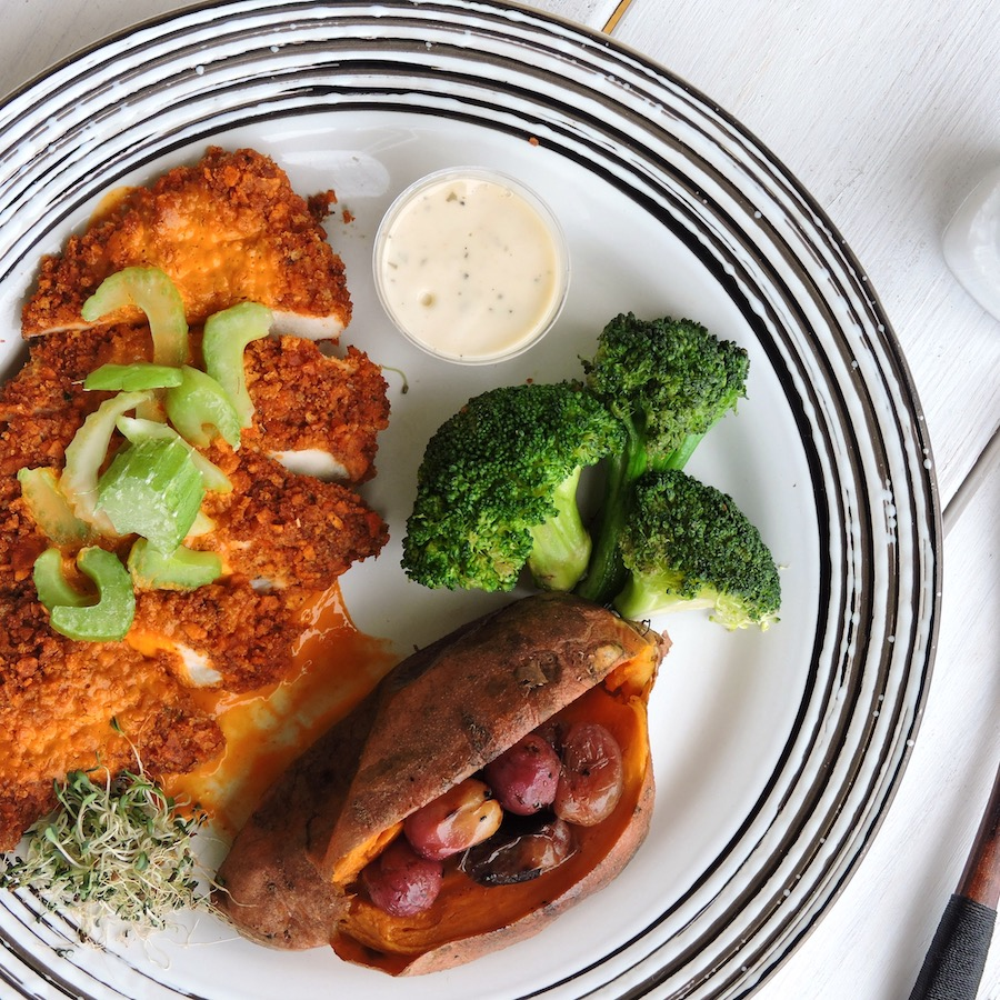 Catered Fit's panko crusted buffalo chicken meal. Photo provided by Catered Fit.