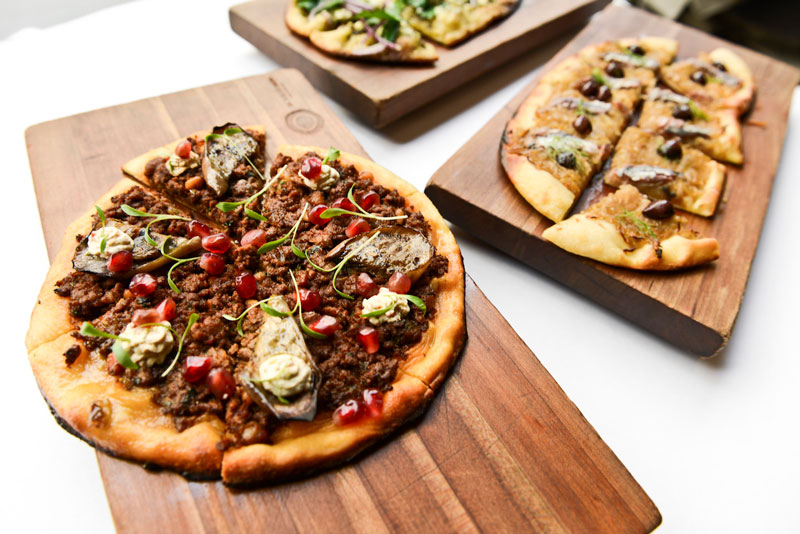 Flatbreads are planned for Bulud Sud's menu. Photo by Liz Barclay.