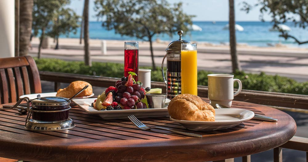 Breakfast spread at the Atlantic Hotel & Spa. Photo provided by the Atlantic Hotel & Spa.
