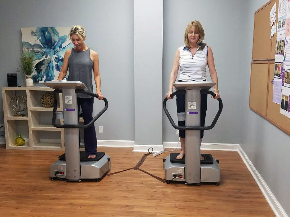 Forever Wellness clients get their body scans. Photo courtesy of Forever Wellness.