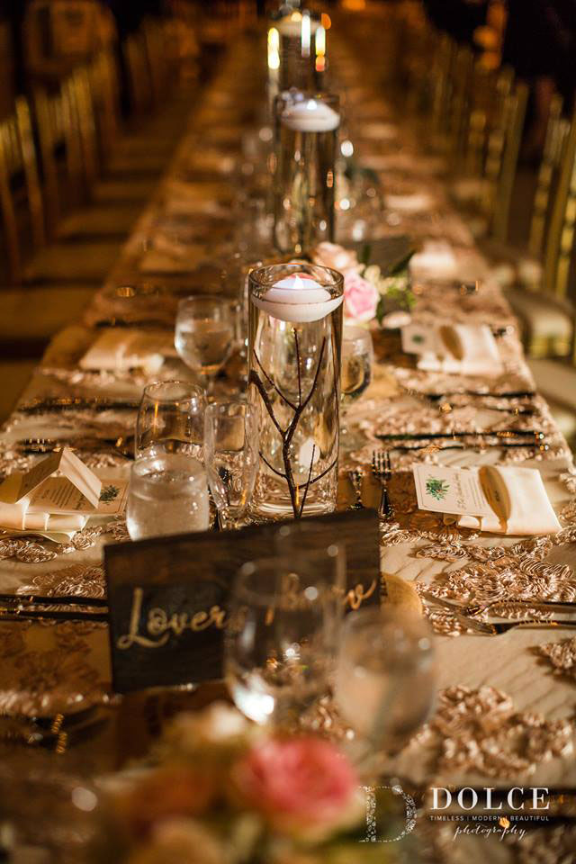 A tablescape by JM Event Productions. Photo by Dolce Photography.