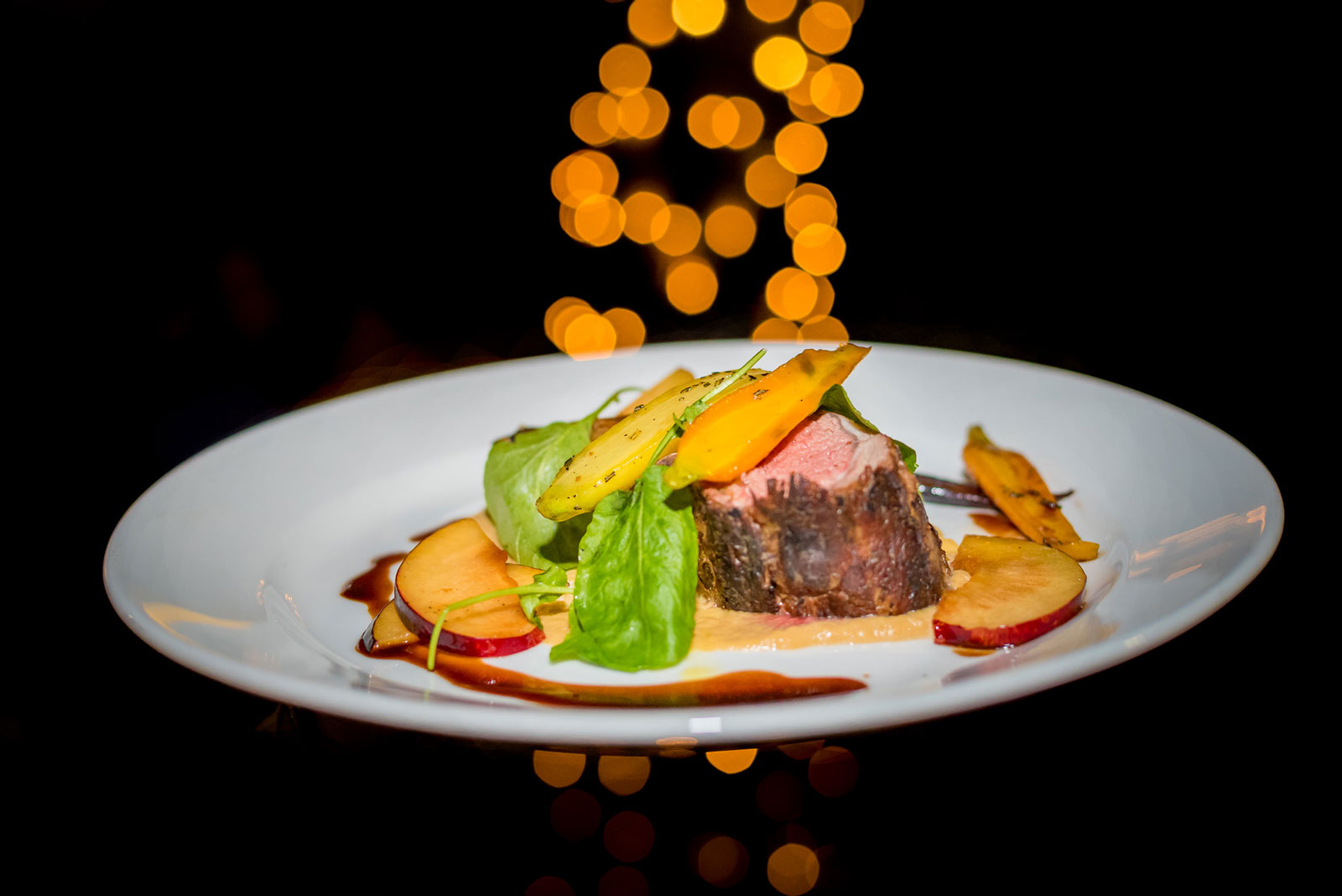 Bison dish from 32 East. Photos by Carl Dawson.