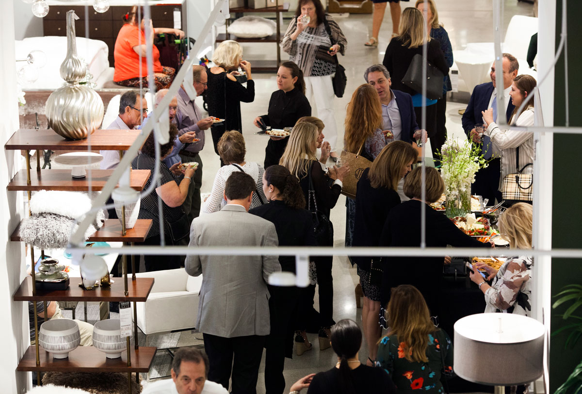 Thom Filicia mingles throughout the crowd at Robb & Stucky. Photo by Miss Takes, Miranda Kruse.