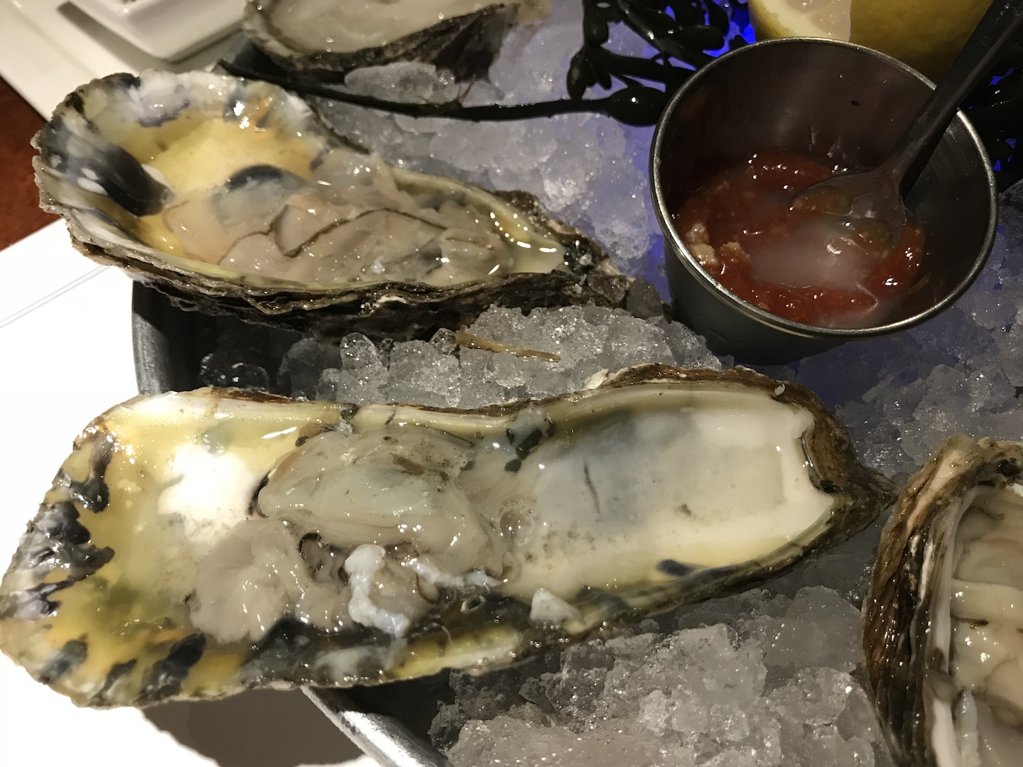 PB Catch's bluepoint oysters. Photo by Lynn Kalber.