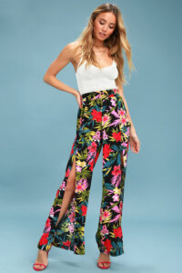 On The Daily Tropical Print Wide-Leg Pants