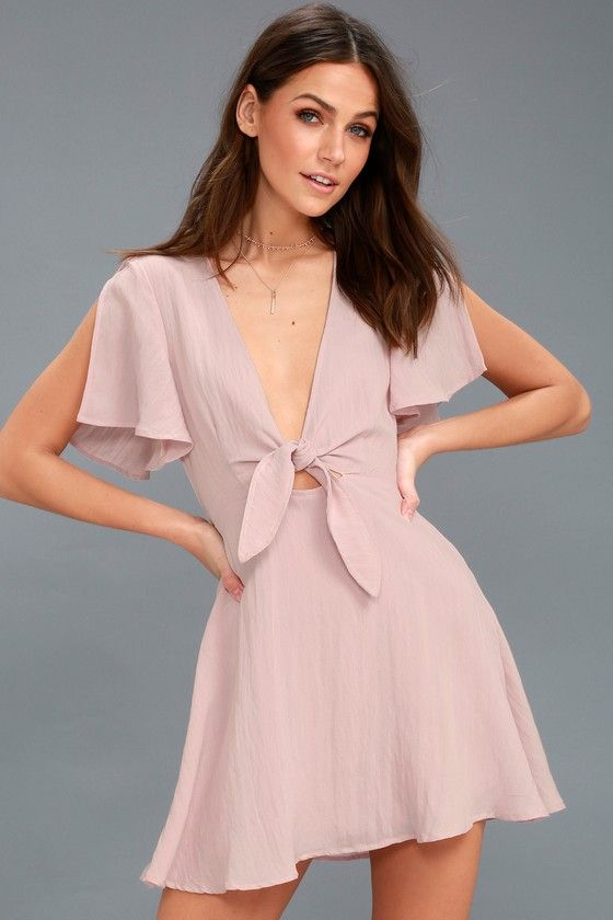 Sea Day washed mauve skater dress